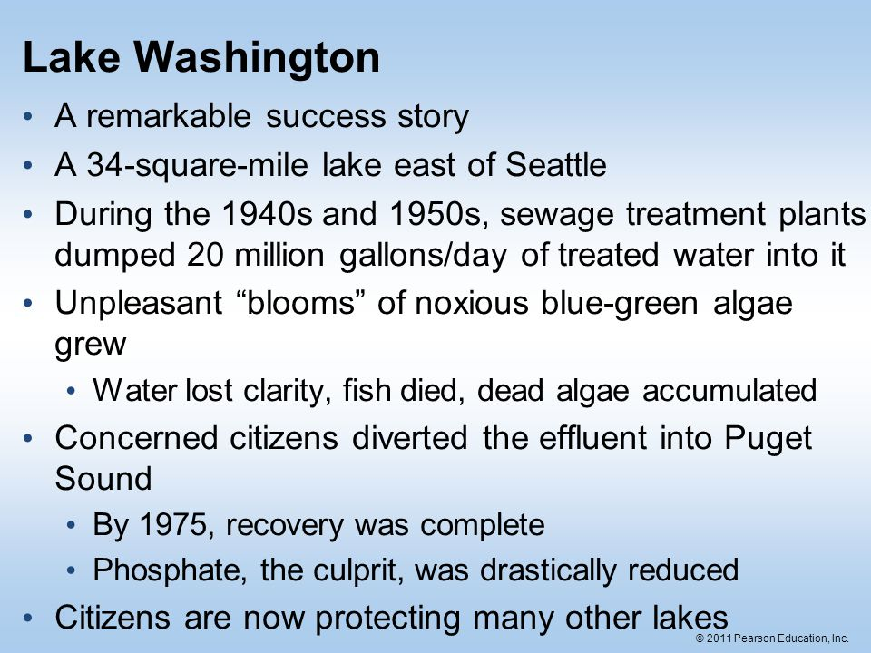 Lake Washington A remarkable success story
