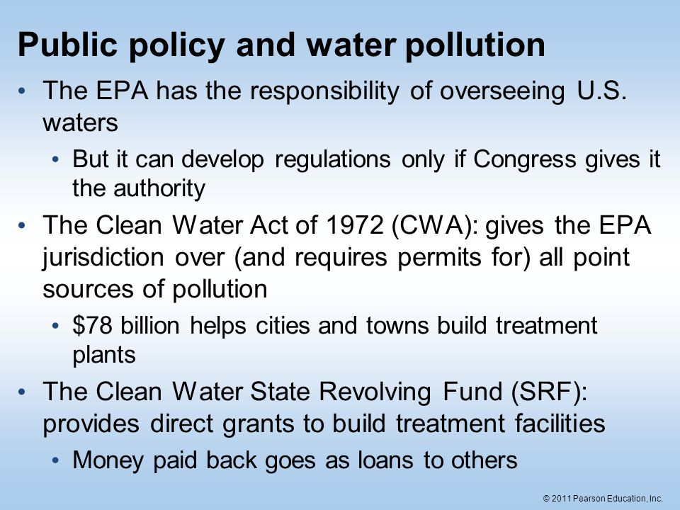 Public policy and water pollution
