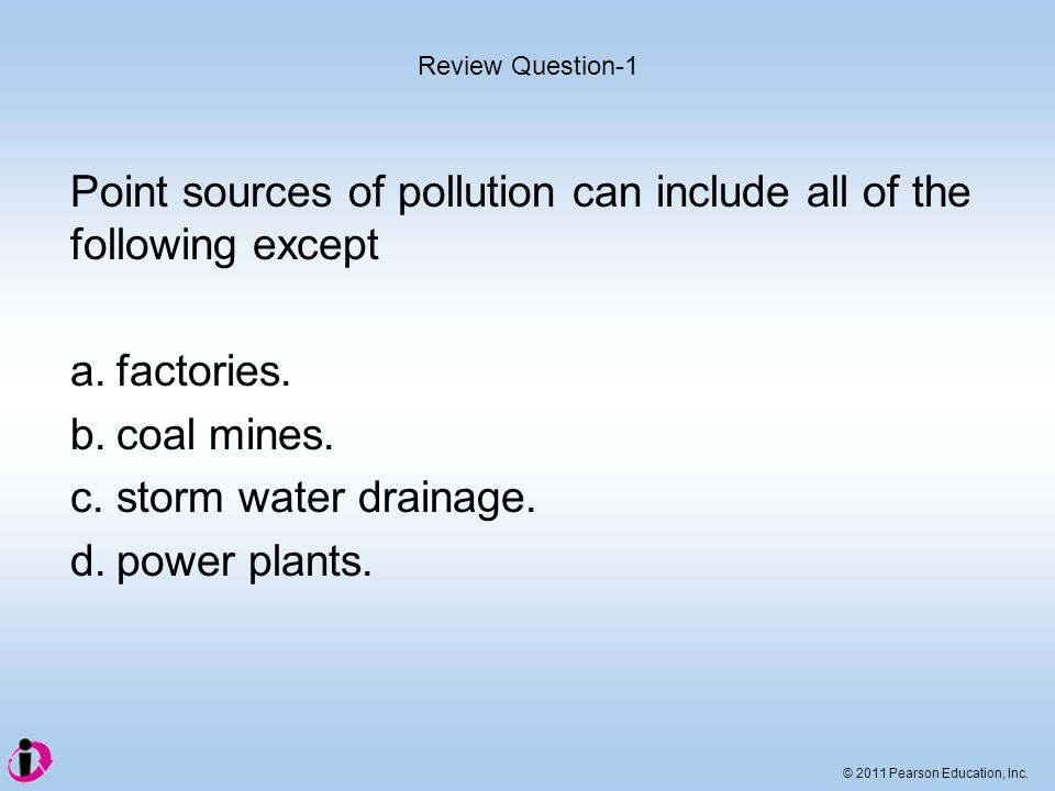 Point sources of pollution can include all of the following except