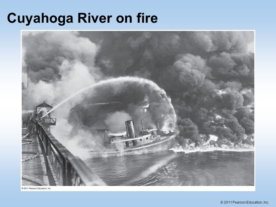 Cuyahoga River on fire