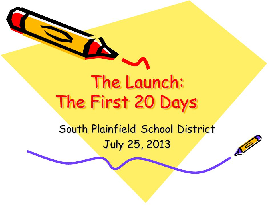 The Launch The First 20 Days