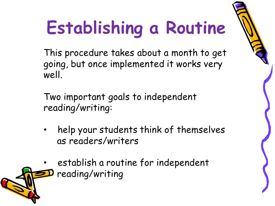 Establishing a Routine