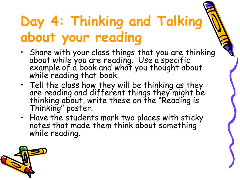 Day 4: Thinking and Talking about your reading