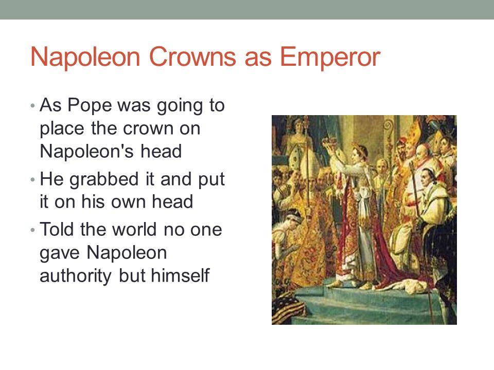 Napoleon Crowns as Emperor