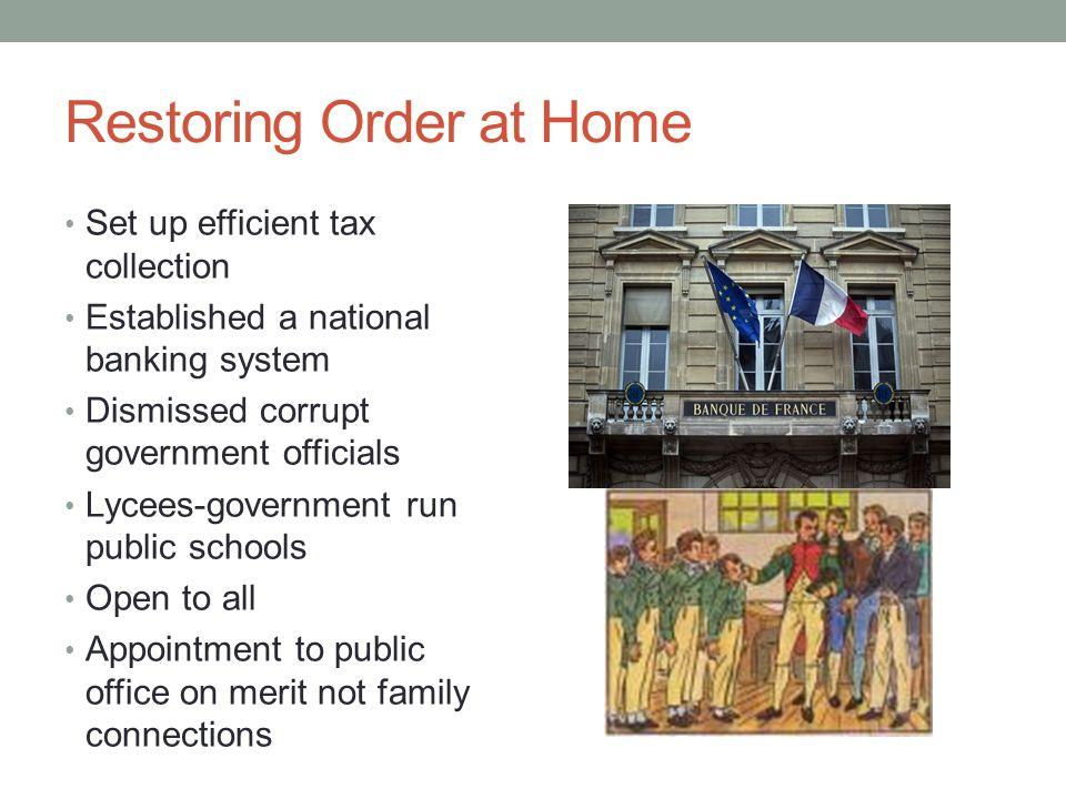Restoring Order at Home