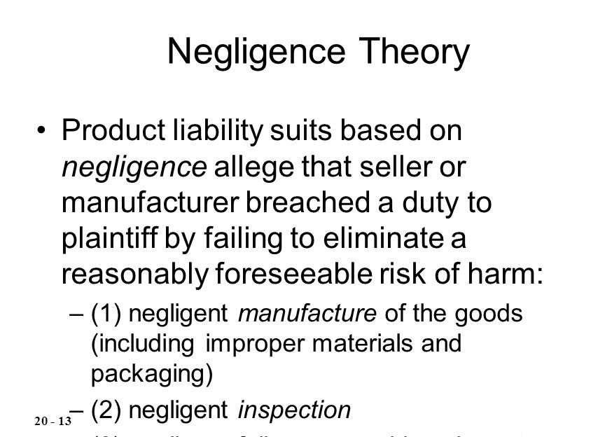 Negligence Theory
