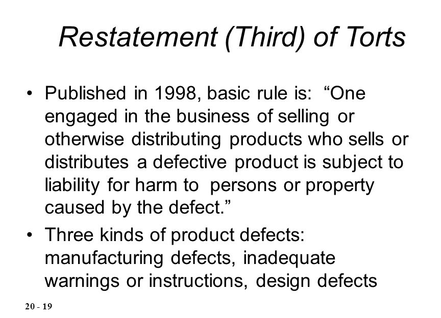 Restatement (Third) of Torts