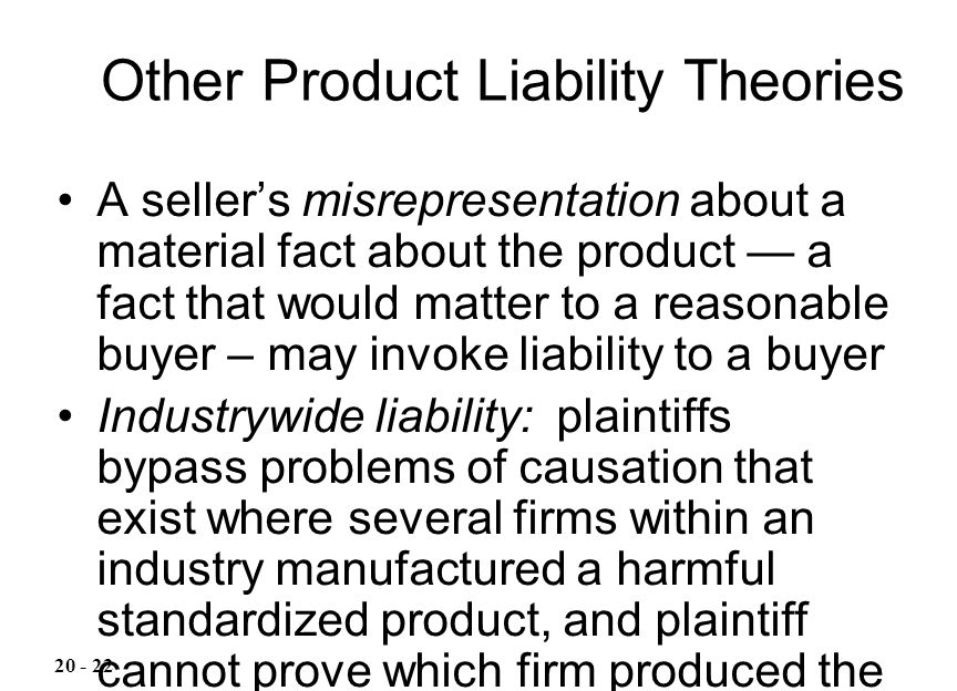 Other Product Liability Theories