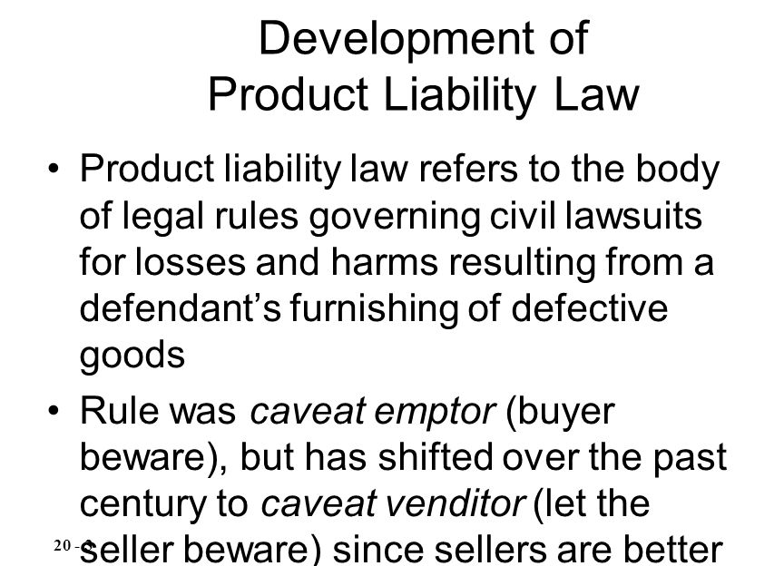Development of Product Liability Law