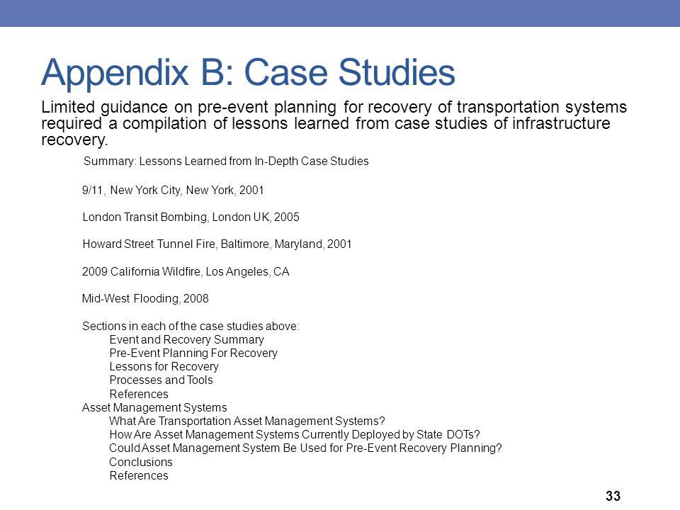 Appendix B: Case Studies