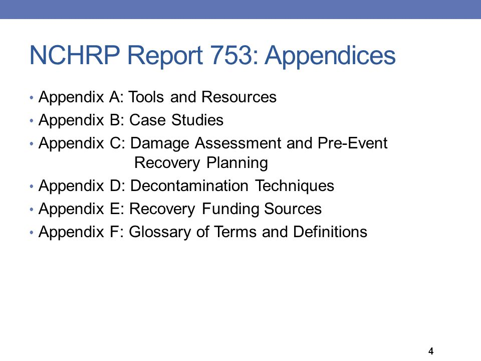 NCHRP Report 753: Appendices