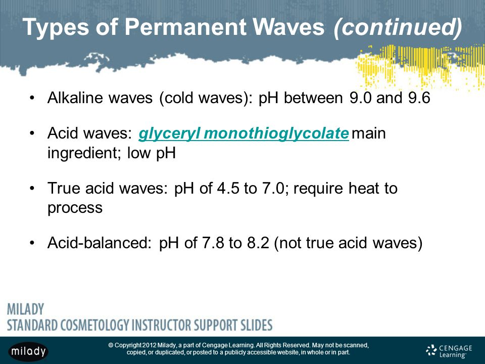 Types of Permanent Waves (continued)