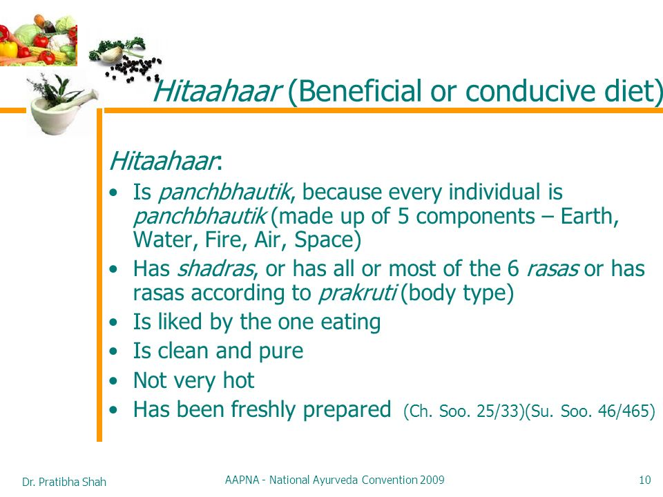 Hitaahaar (Beneficial or conducive diet)