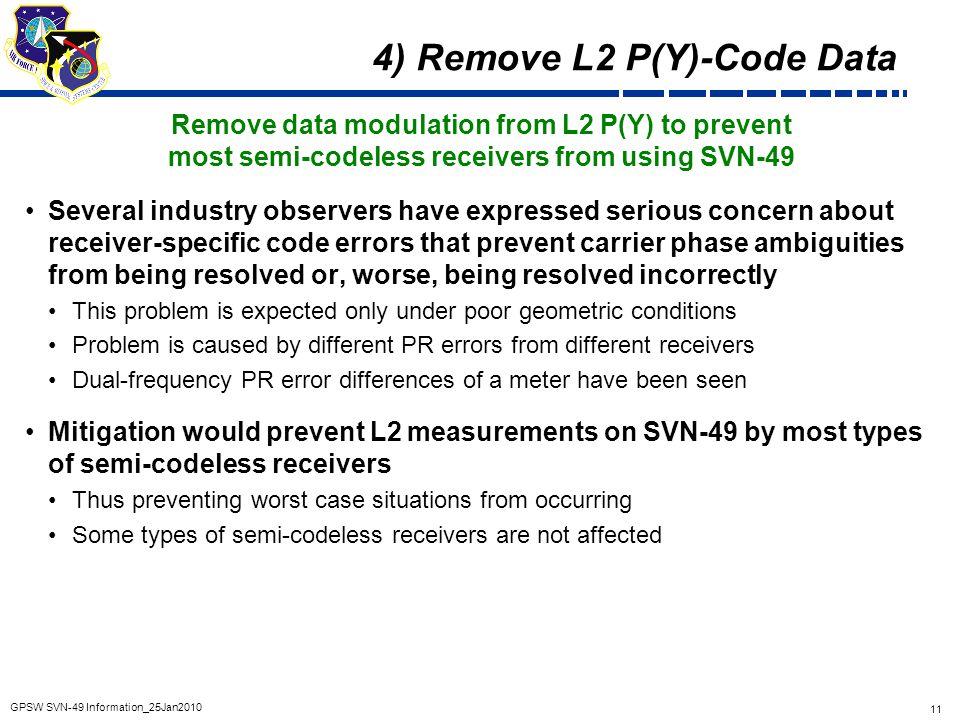 4) Remove L2 P(Y)-Code Data