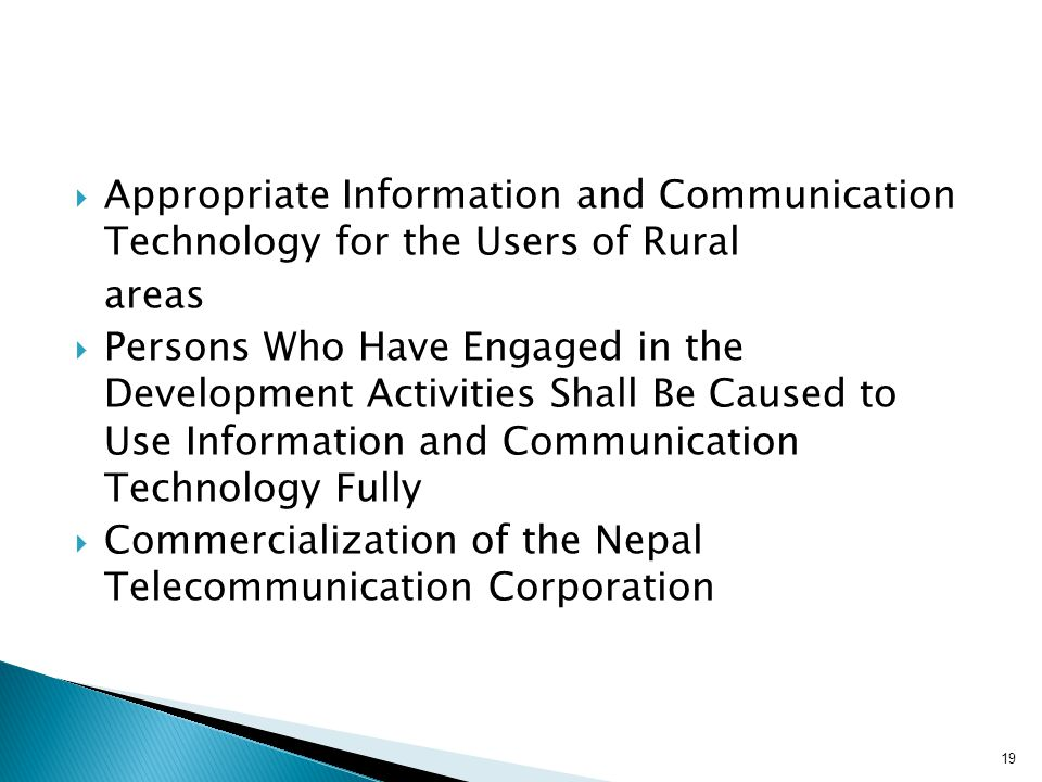 Appropriate Information and Communication Technology for the Users of Rural