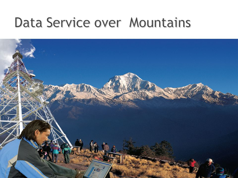 Data Service over Mountains