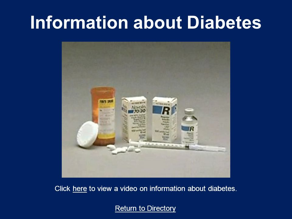 Information about Diabetes