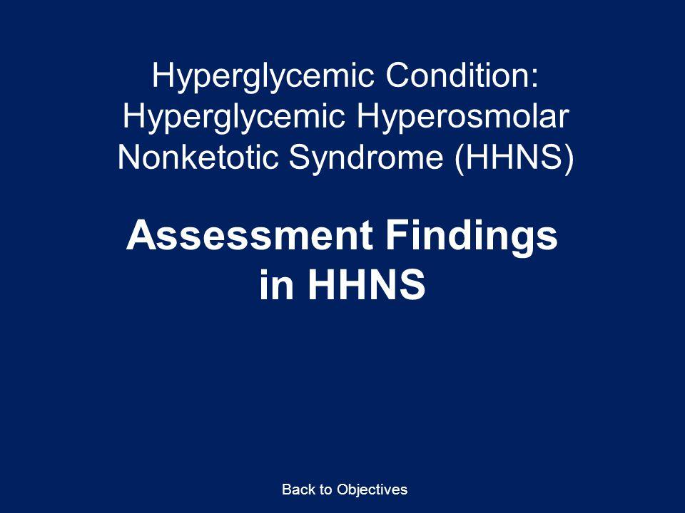 Assessment Findings in HHNS