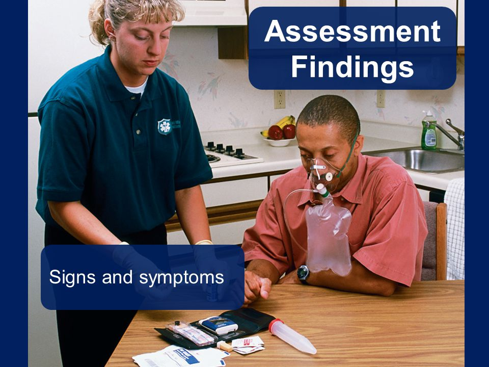 Assessment Findings Signs and symptoms Talking Points