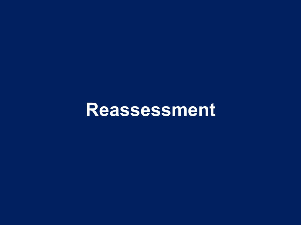 Reassessment Point to Emphasize