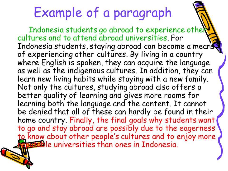 Example of a paragraph