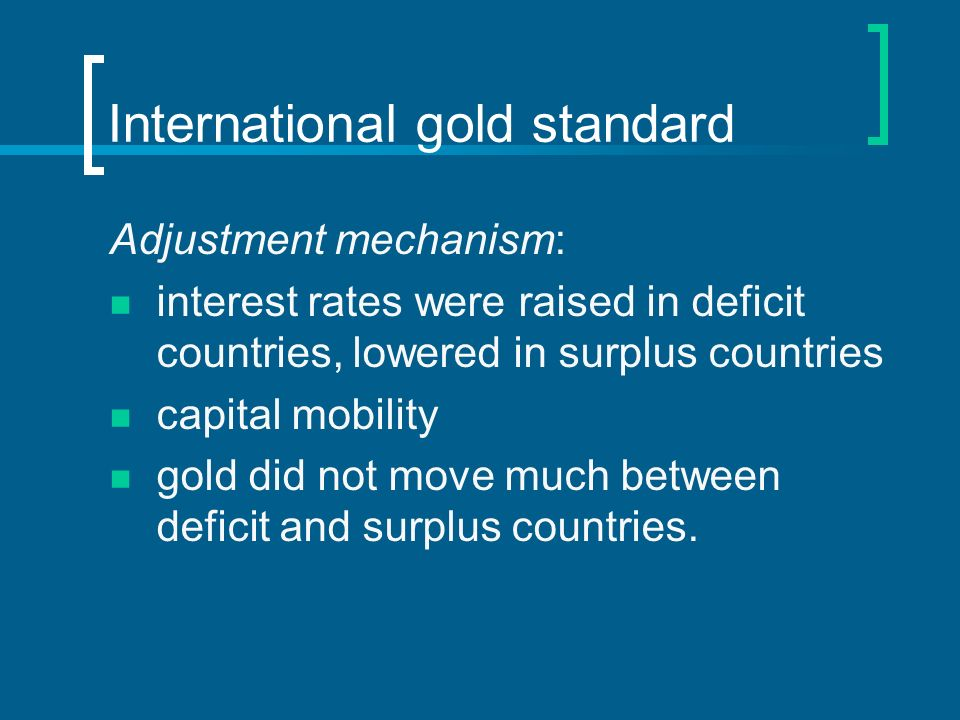 International gold standard