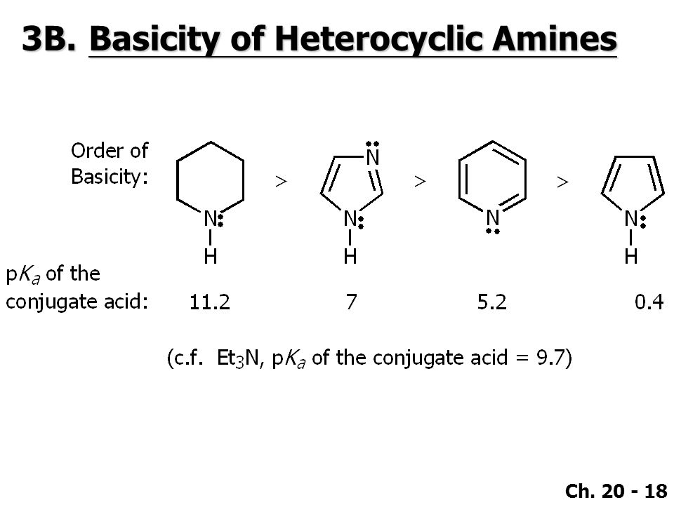 3B. Basicity of Heterocyclic Amines