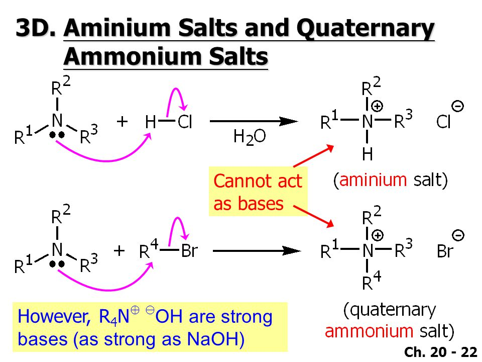 3D. Aminium Salts and Quaternary Ammonium Salts