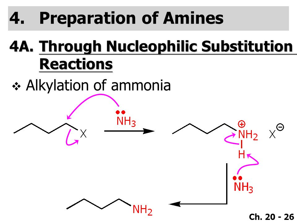 Preparation of Amines 4A. Through Nucleophilic Substitution Reactions