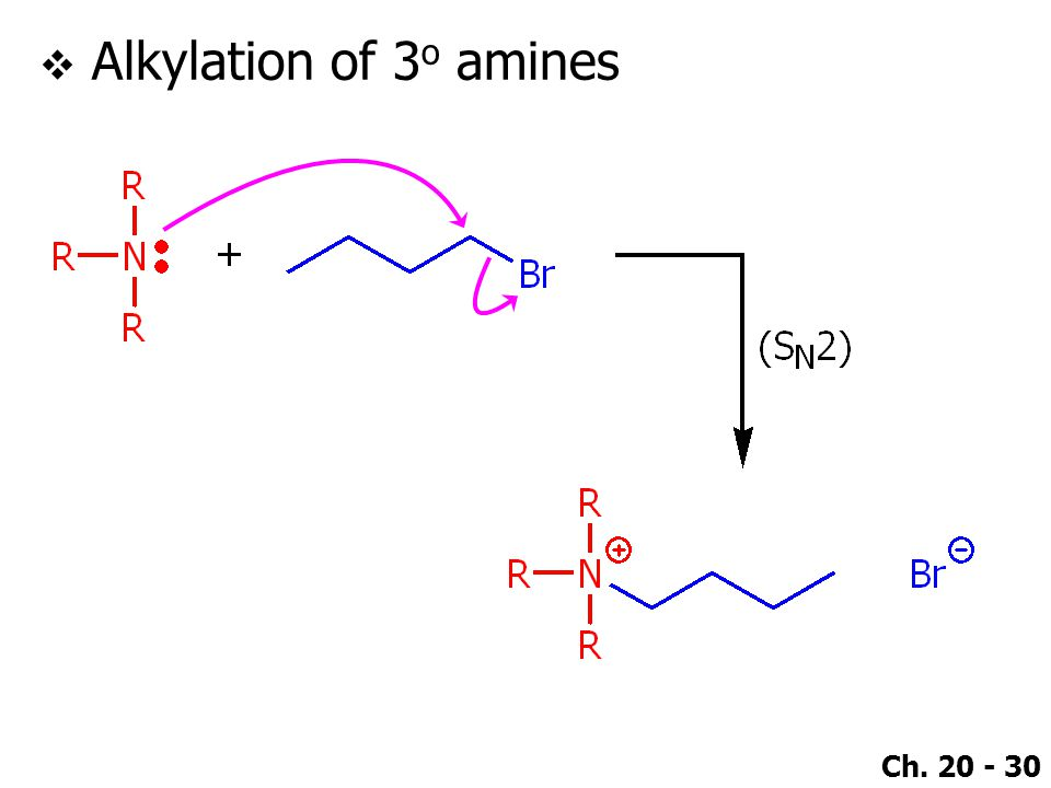 Alkylation of 3o amines
