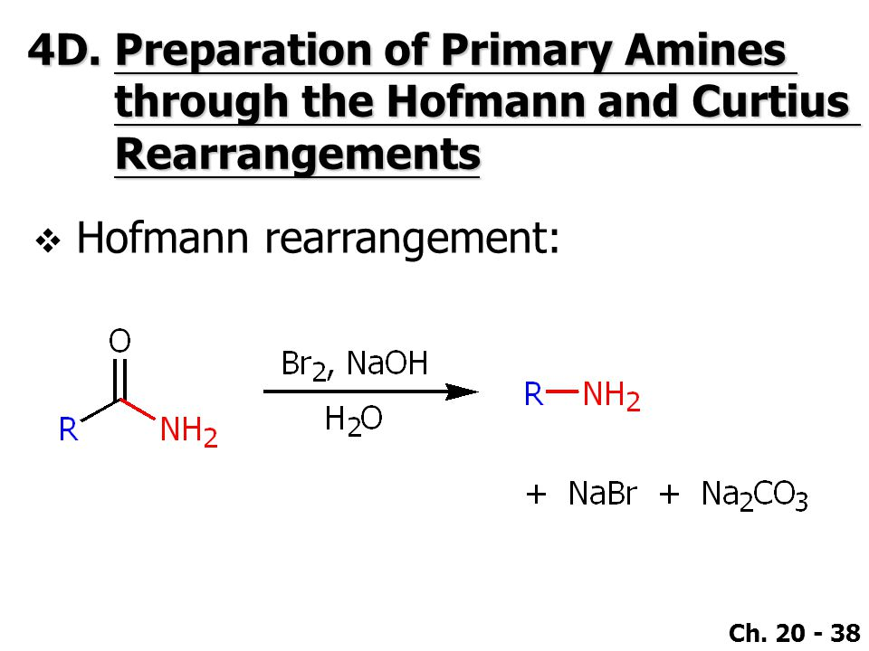 4D. Preparation of Primary Amines