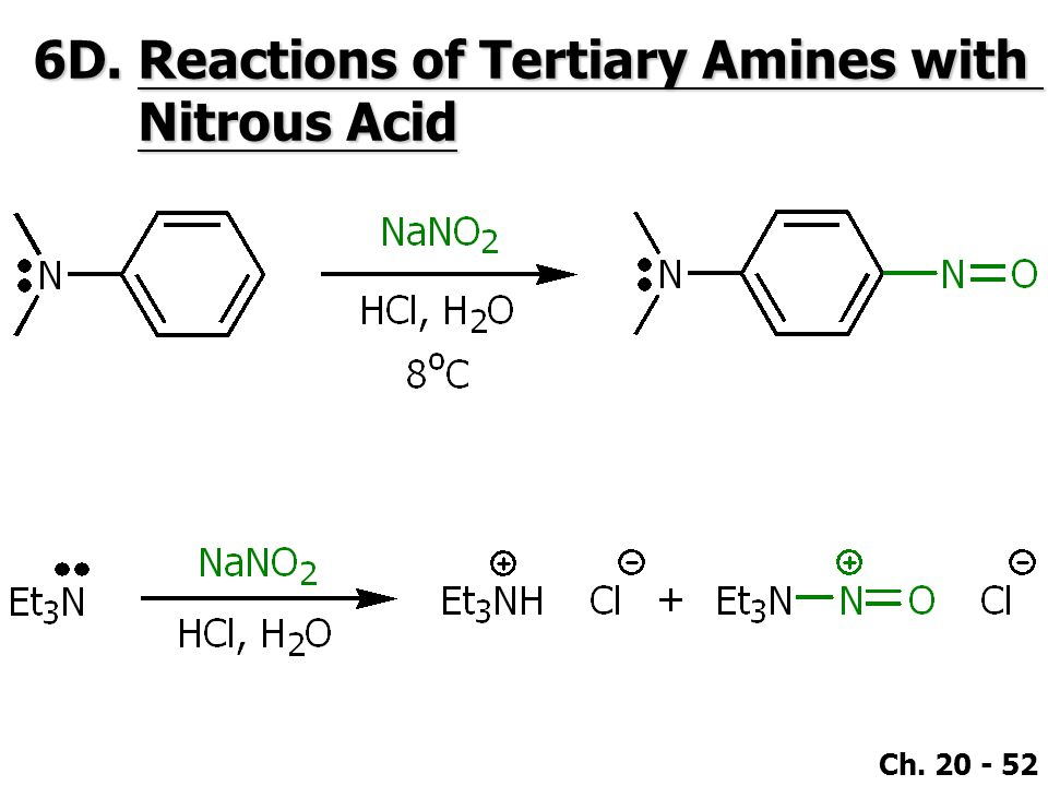 6D. Reactions of Tertiary Amines with Nitrous Acid