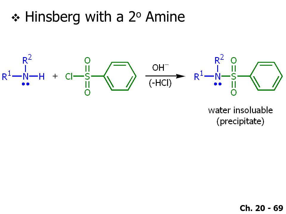 Hinsberg with a 2o Amine