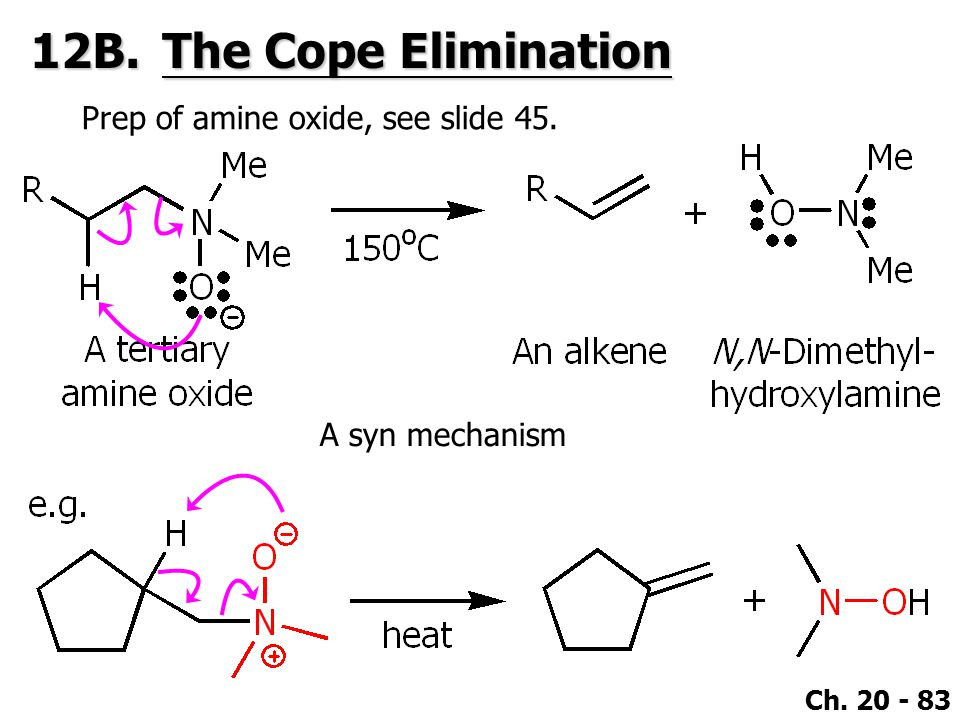 12B. The Cope Elimination Prep of amine oxide, see slide 45.