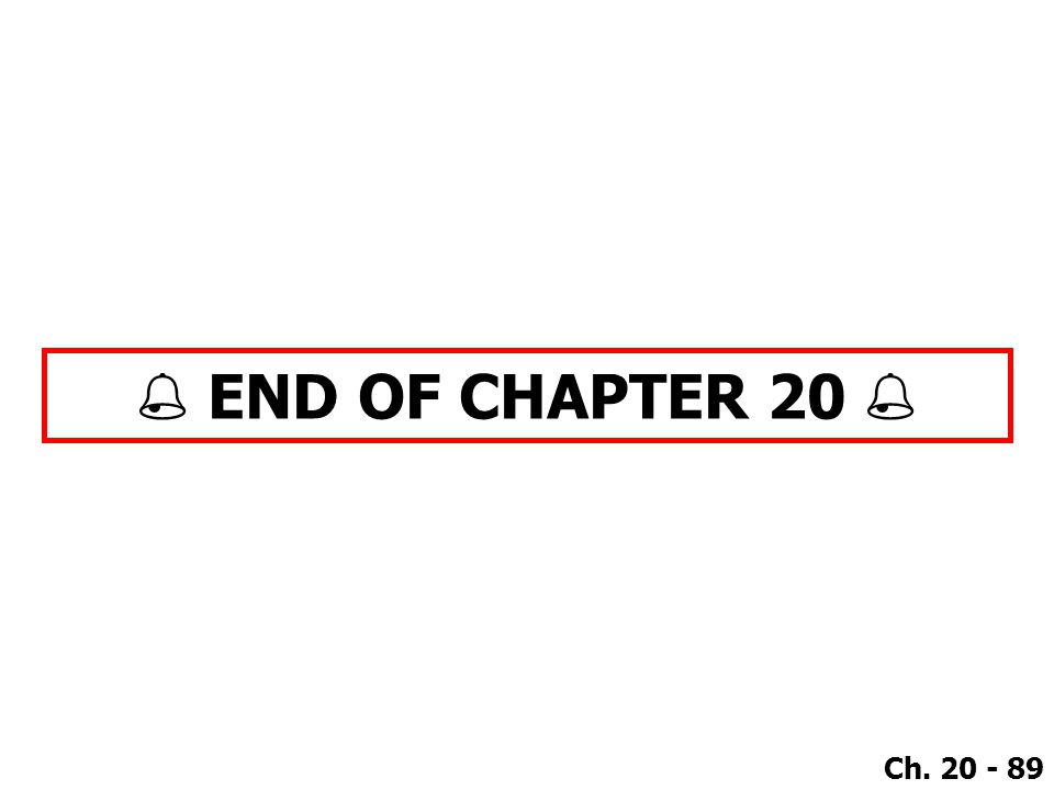  END OF CHAPTER 20 