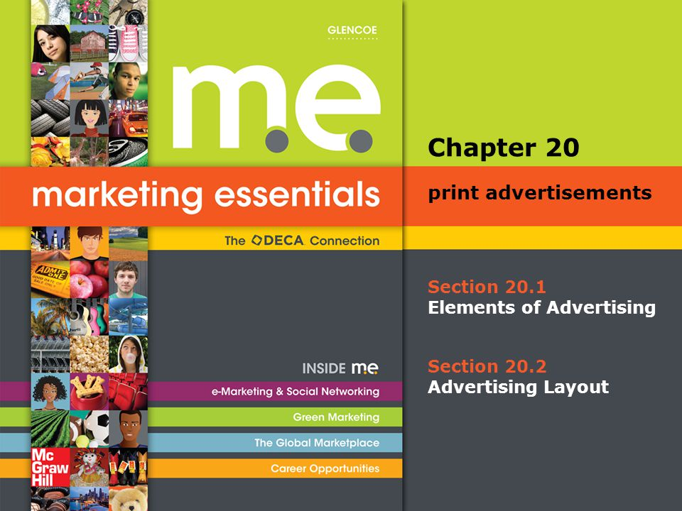 Chapter 20 print advertisements Section 20.1 Elements of Advertising
