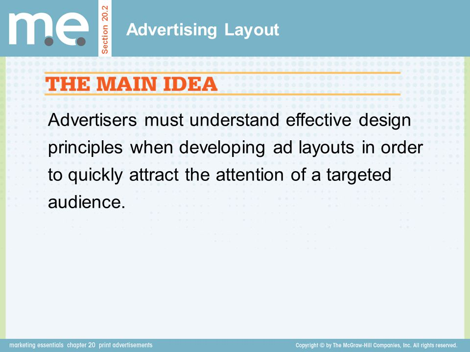Advertising Layout Section 20.2.