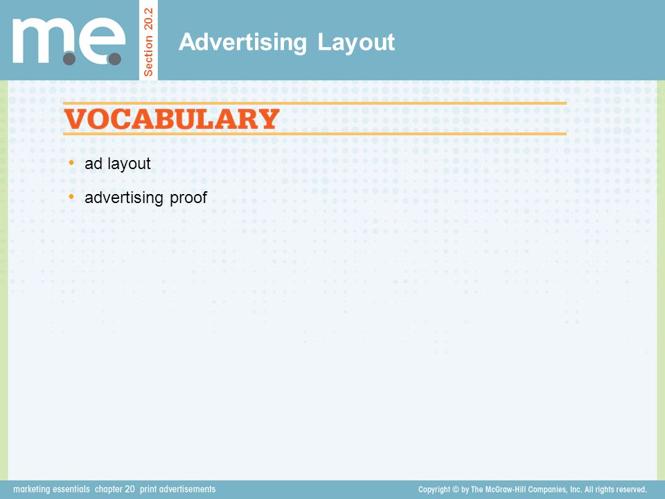 Advertising Layout Section 20.2 ad layout advertising proof