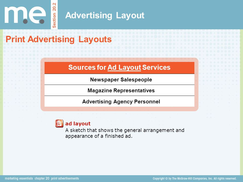 Print Advertising Layouts