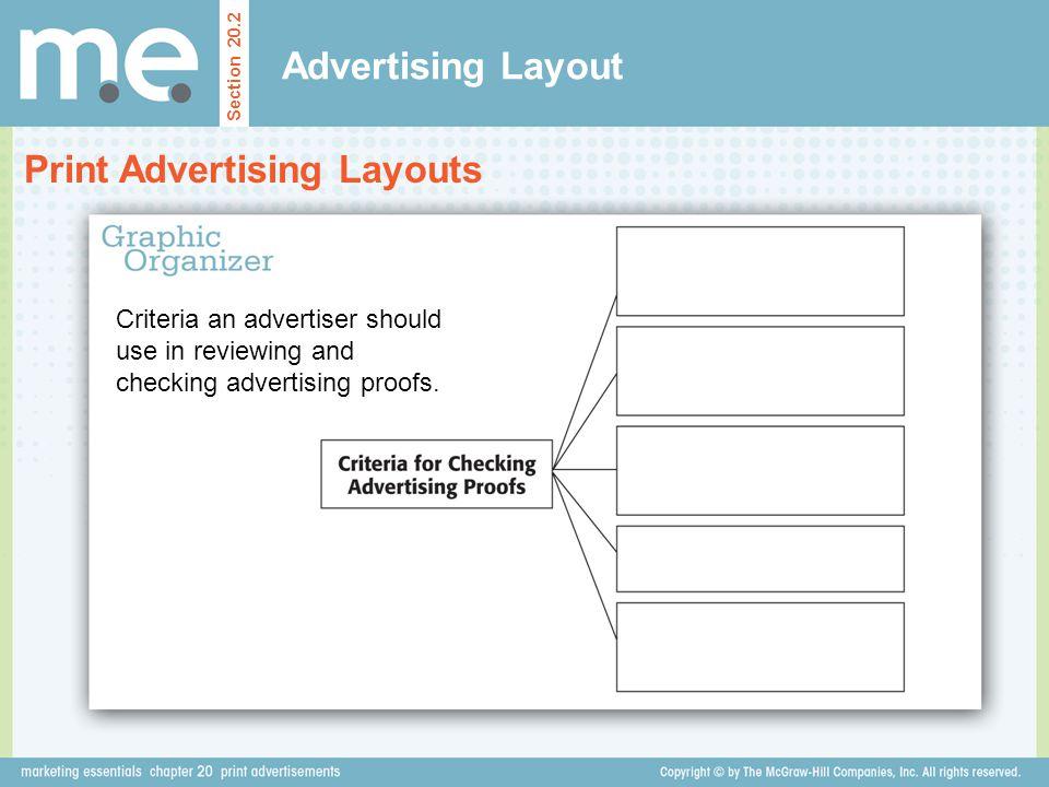 Print Advertising Layouts