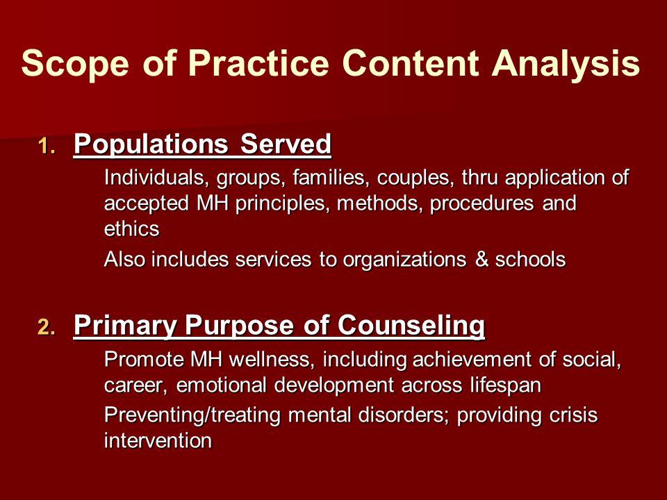 Scope of Practice Content Analysis