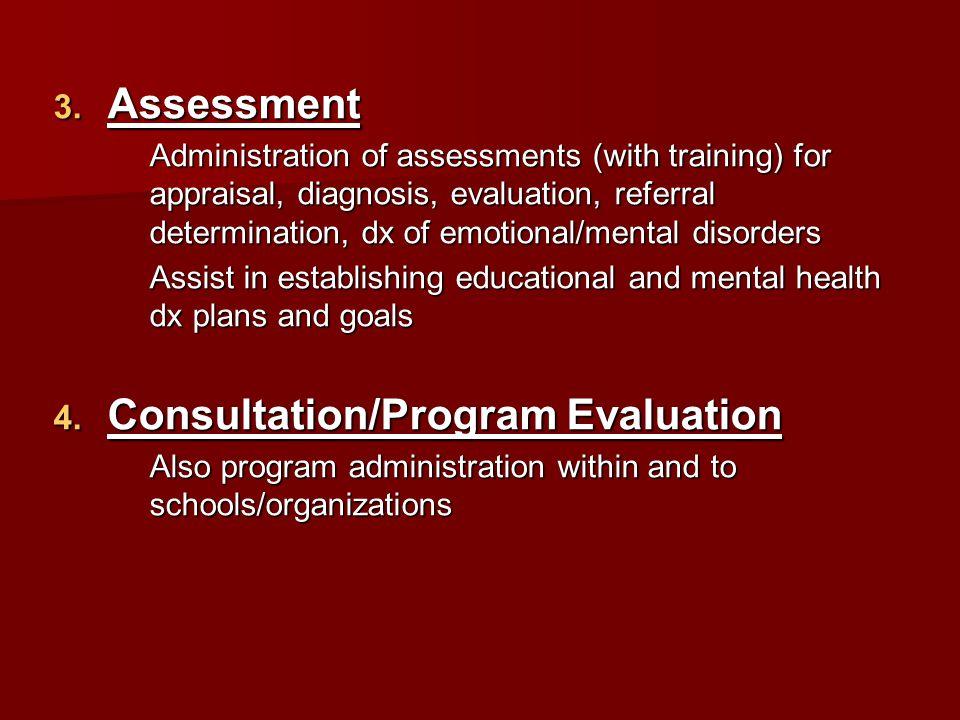 Consultation/Program Evaluation