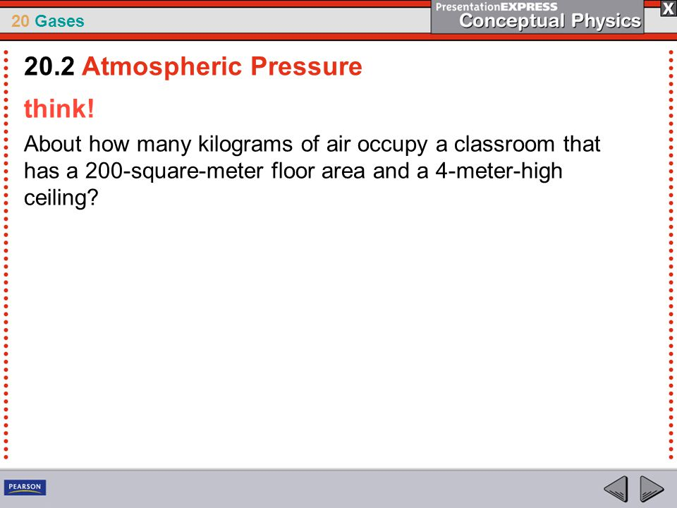 20.2 Atmospheric Pressure think!
