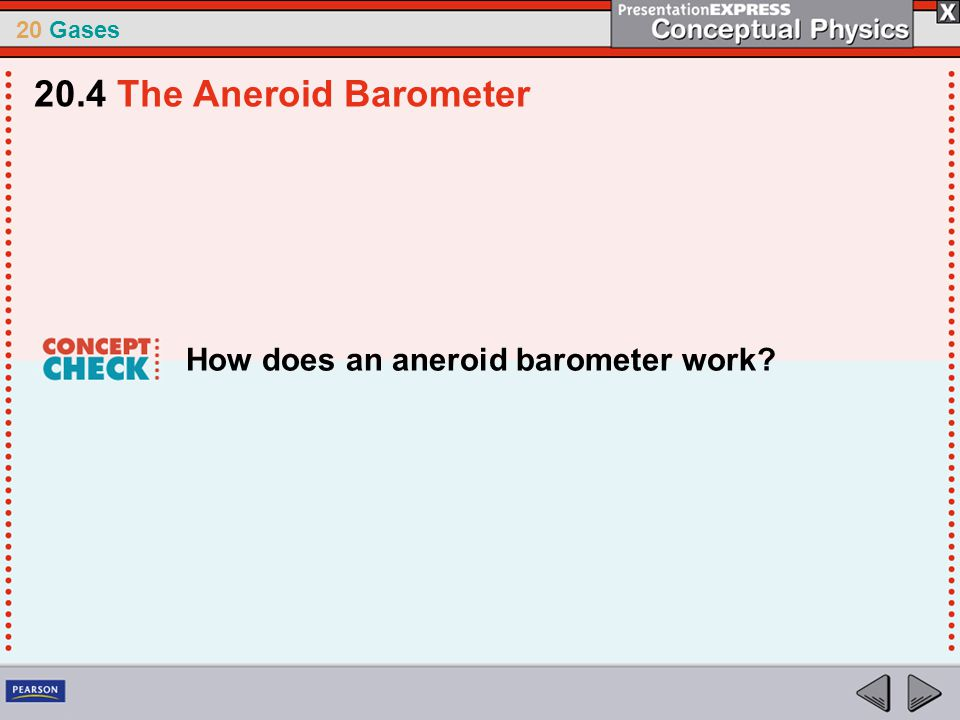 20.4 The Aneroid Barometer How does an aneroid barometer work