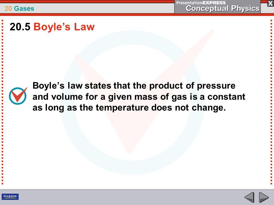 20.5 Boyle's Law
