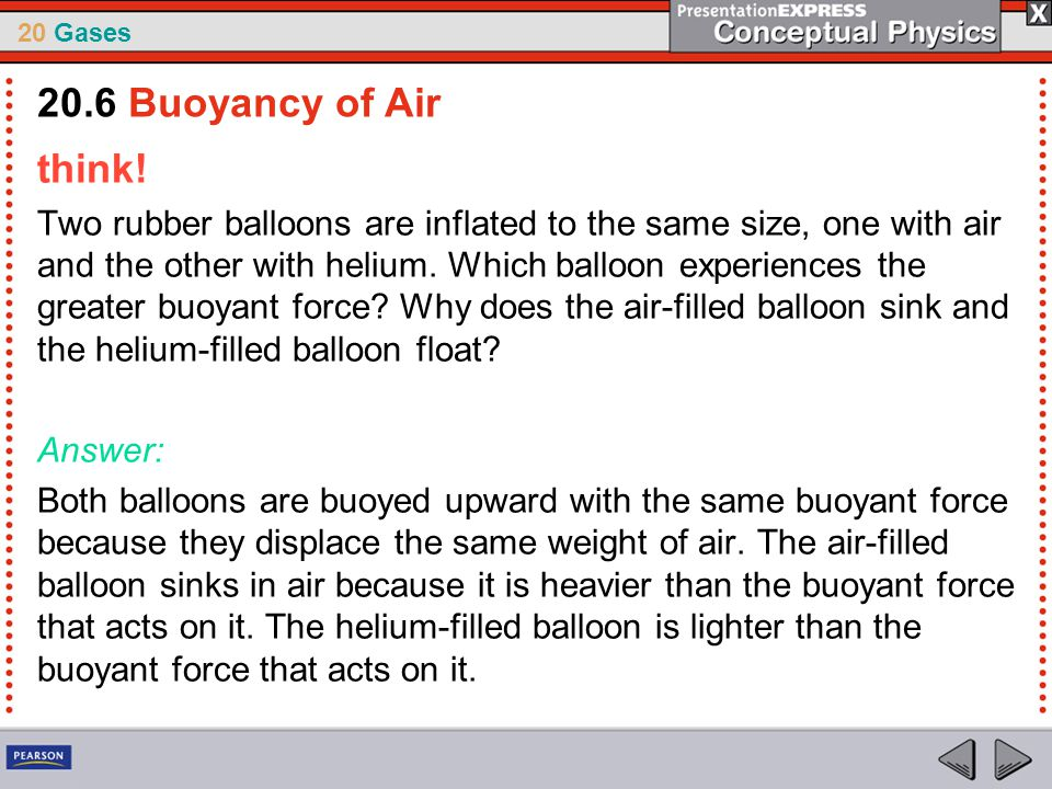 20.6 Buoyancy of Air think!