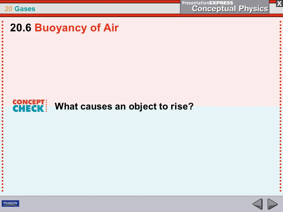 20.6 Buoyancy of Air What causes an object to rise