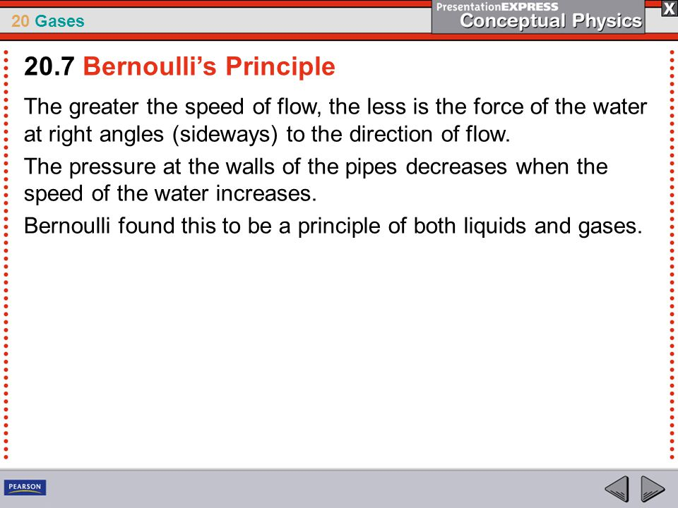 20.7 Bernoulli's Principle