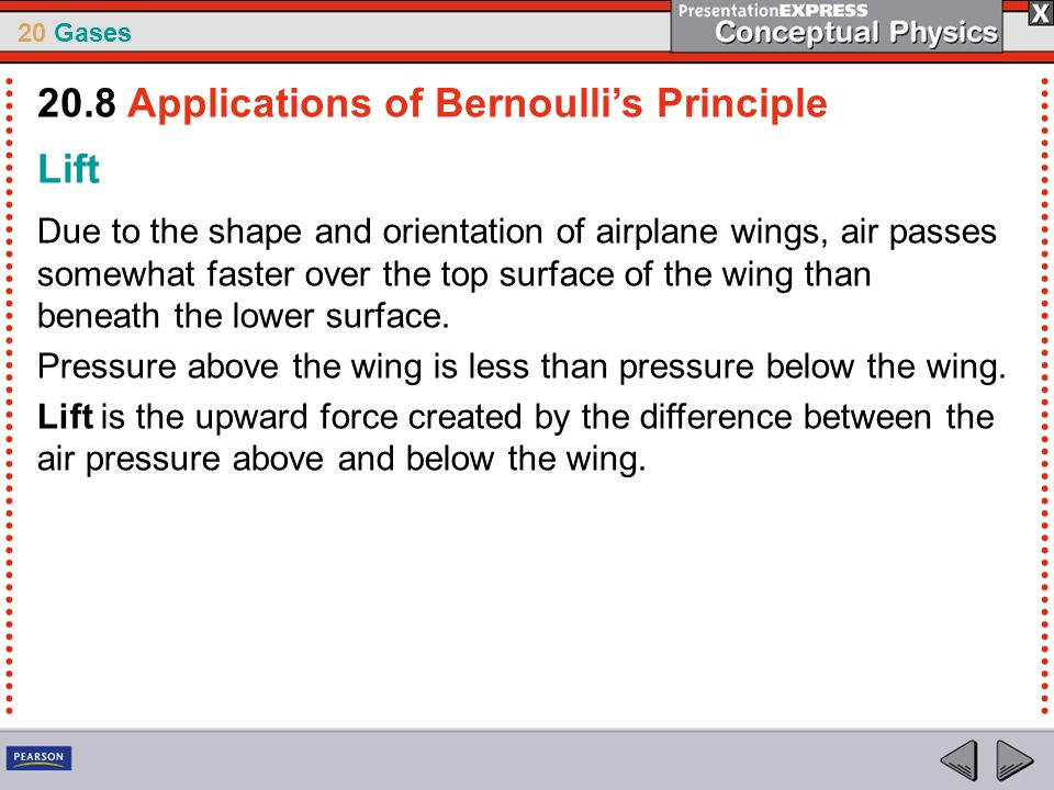 20.8 Applications of Bernoulli's Principle