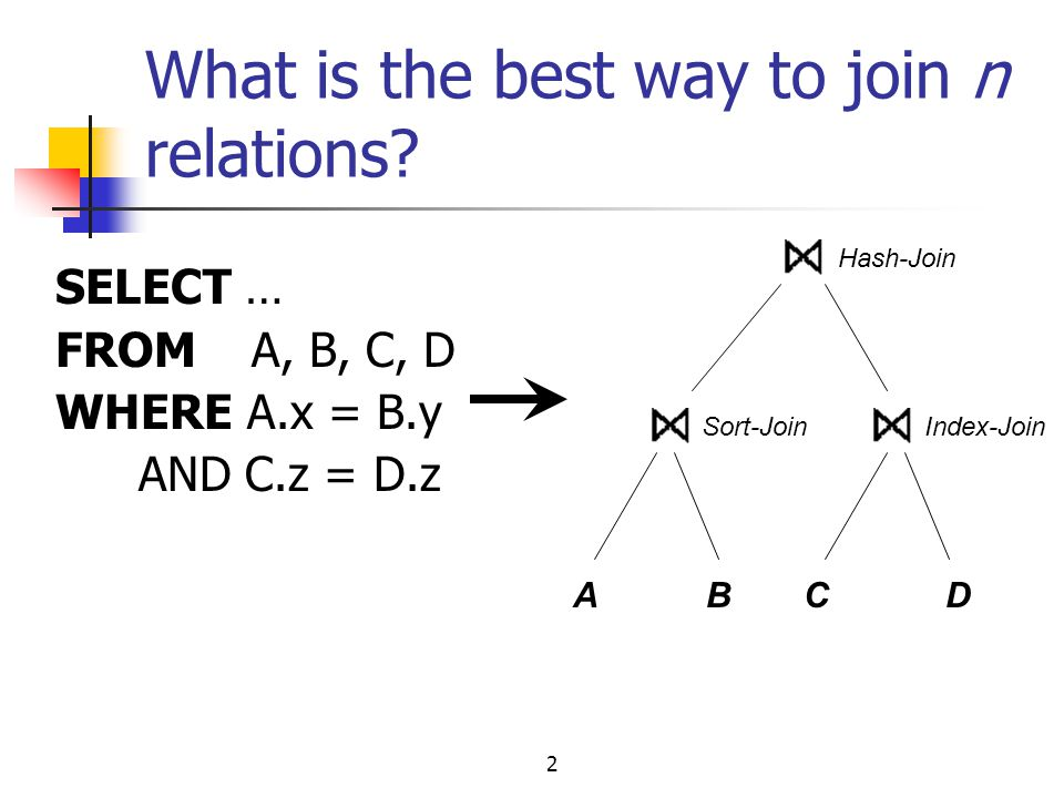 What is the best way to join n relations